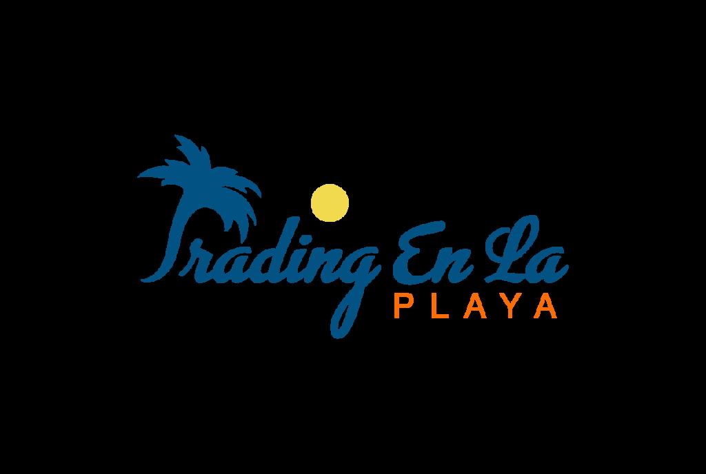 logo trading en la playa